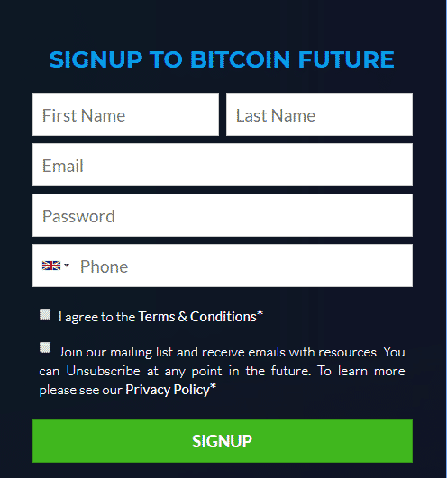 Signup to Bitcoin Future